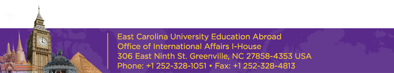 Education Abroad - East Carolina University